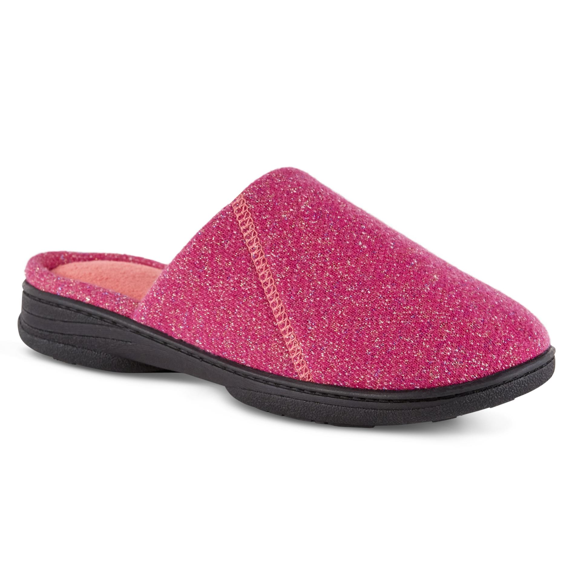 also isotoner women   nora slipper purple pink rh kmart