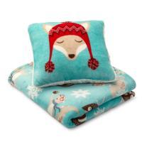 Cannon Fox Plush Pillow & Throw 2-piece Gift Set - Home ...