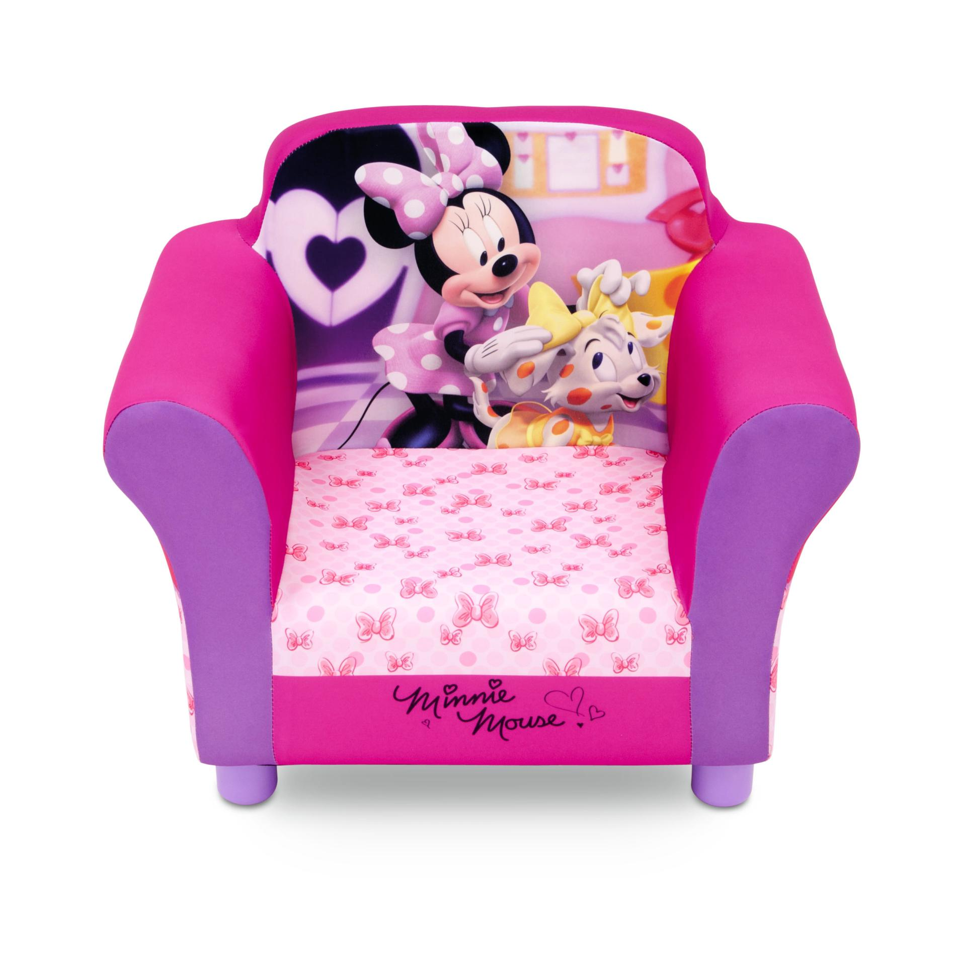 Toddler Sofa Chair Disney Toddler Girl 39s Upholstered Chair Minnie Mouse