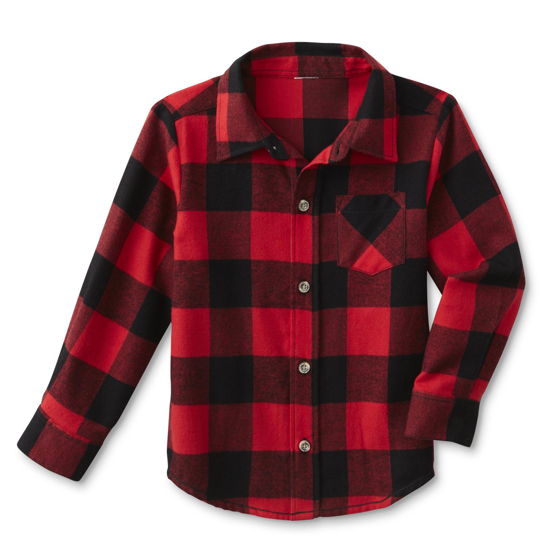 Wonderkids Infant & Toddler Boy' Flannel Shirt - Plaid Kmart