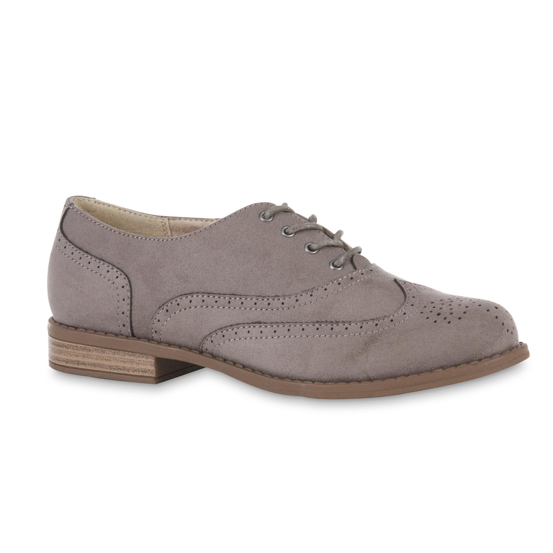 Gray Oxford Shoes Women