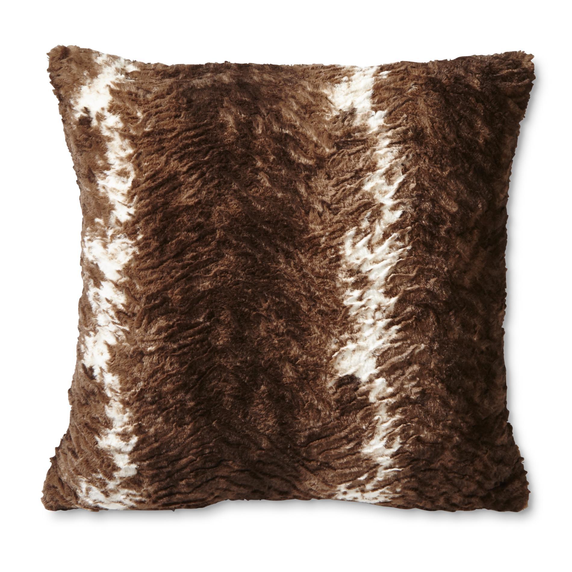 cowhide sofa throws cama espuma easy cannon faux fur throw pillow pattern home