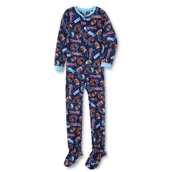 Joe Boxer Boys' Fleece Footed Pajamas - Football Online Shopping & Earn Points