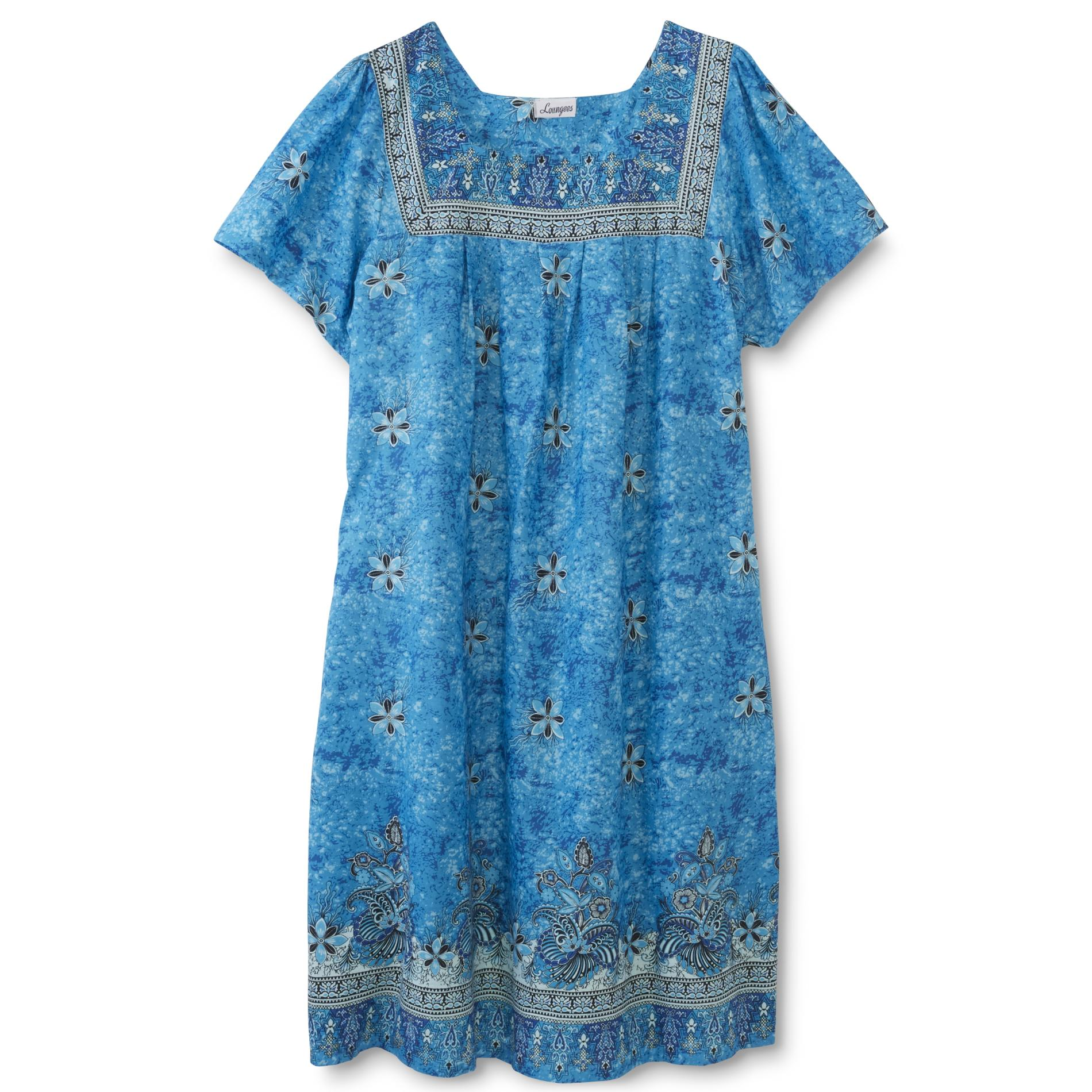 Loungees Women39s Plus Lounge Dress Floral
