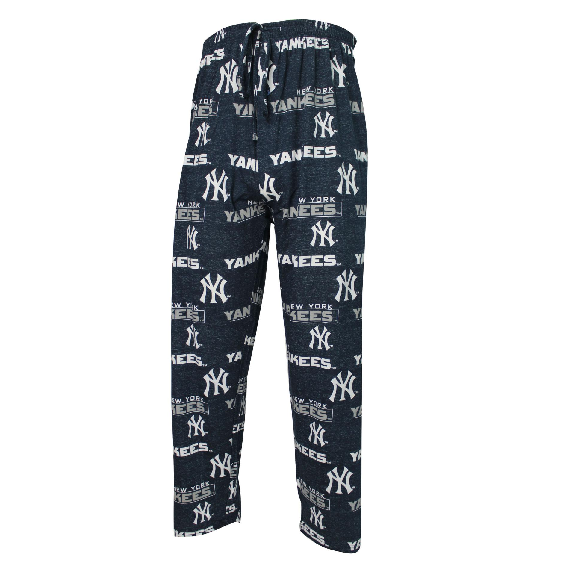 Mlb Men' Pajama Pants - York Yankees