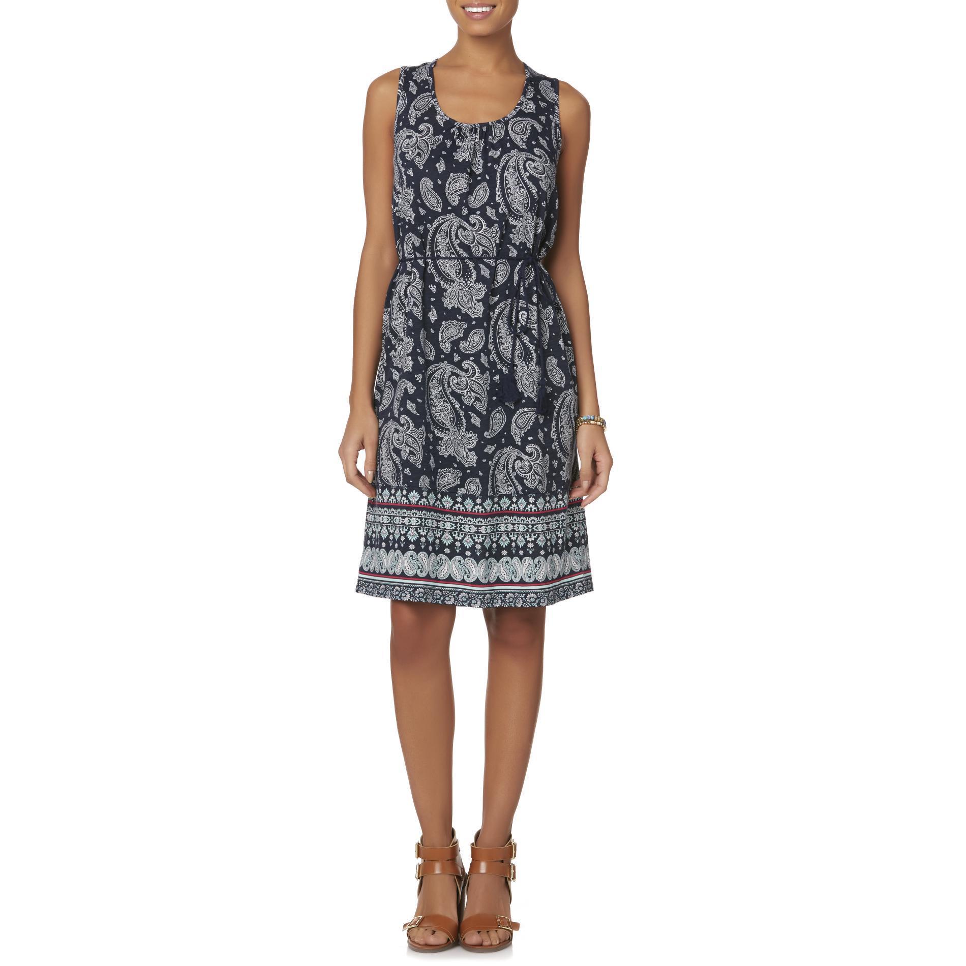 Basic Editions Women39s Knit Sundress Paisley