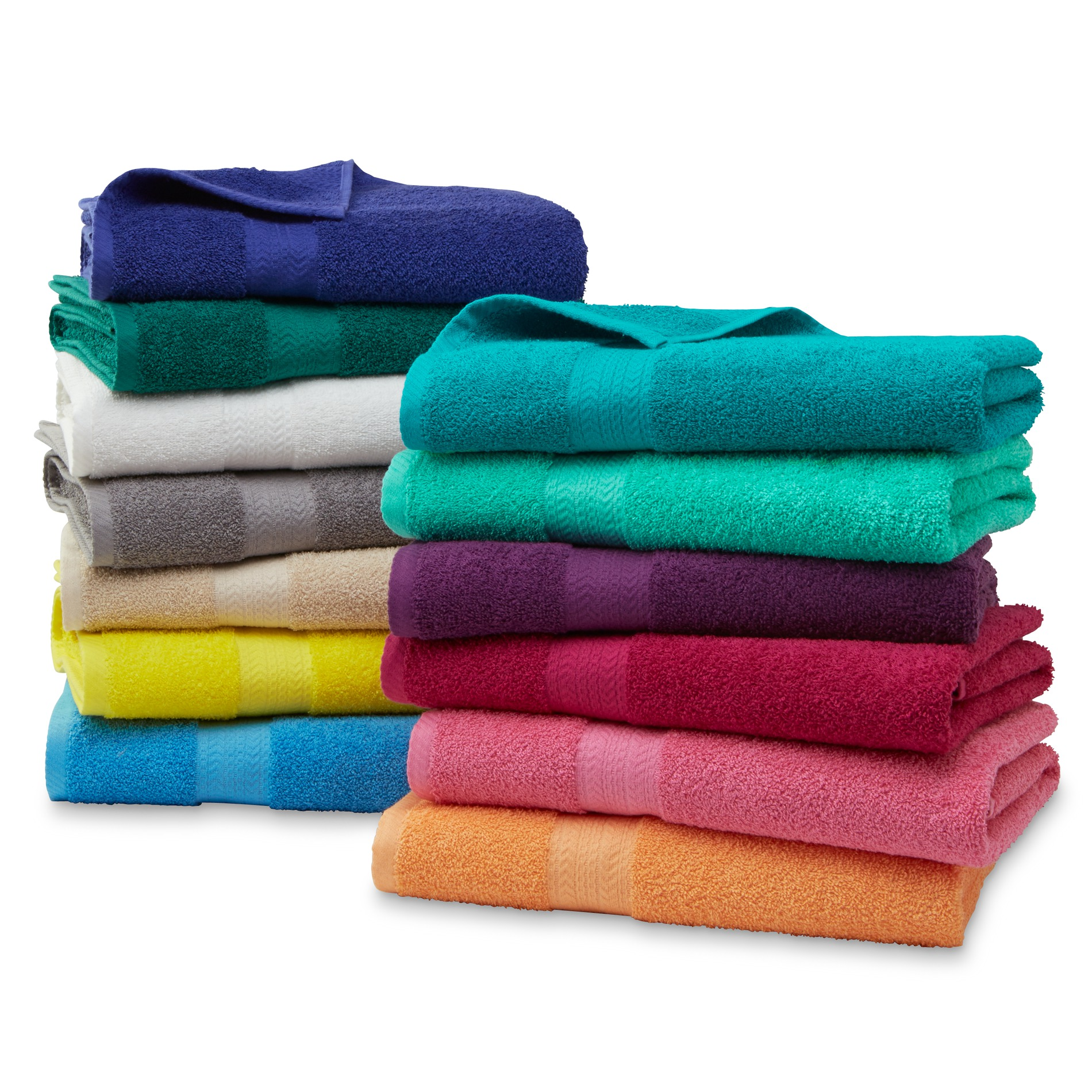 Essential Home Sutton Cotton Bath Towels Hand Washcloths
