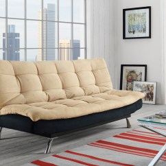 Julia Cupholder Convertible Futon Sofa Bed White Queen Size Beds | Mattresses - Kmart