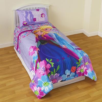 Disney Frozen Reversible Comforter  Floral
