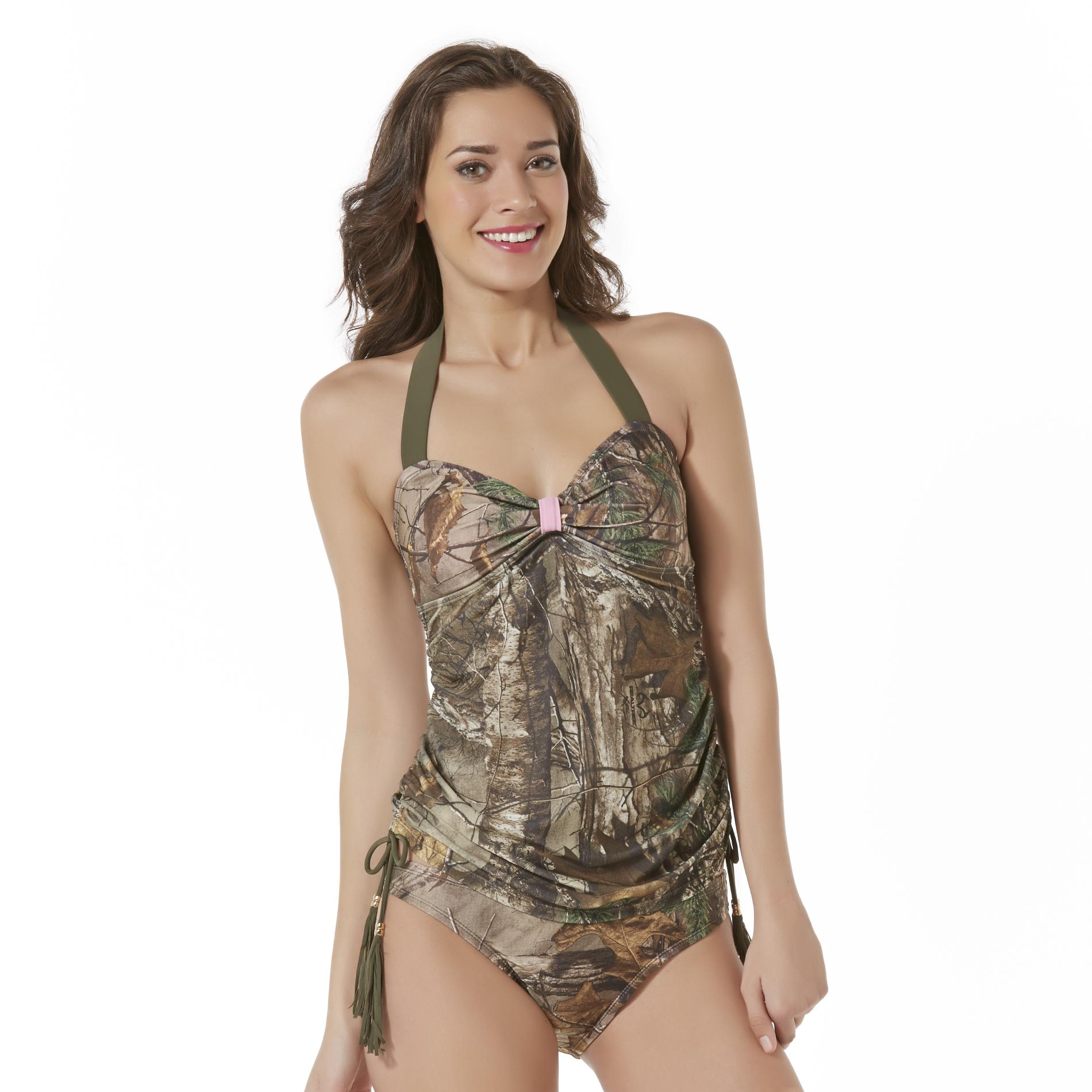 Realtree Women' Tankini Swim Top - Camouflage