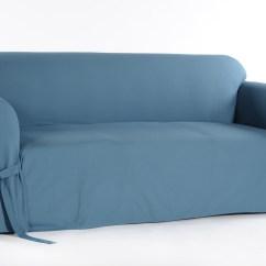 Durham One Piece Sofa Slipcover Light Dark Floors Classic Slipcovers Cotton Duck