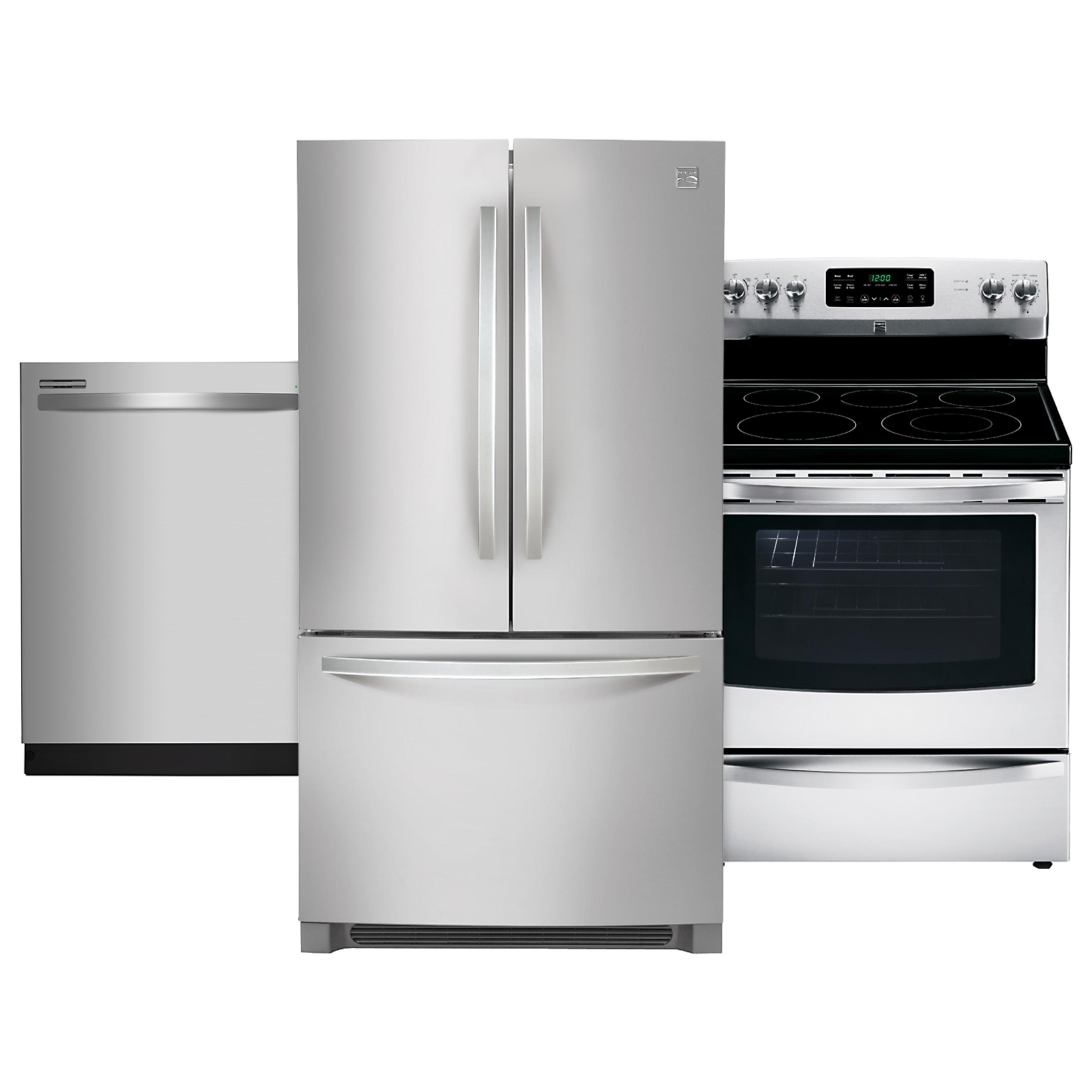 kitchen appliance suites articulating faucet shop packages with sears at kenmore 3 piece suite stainless steel