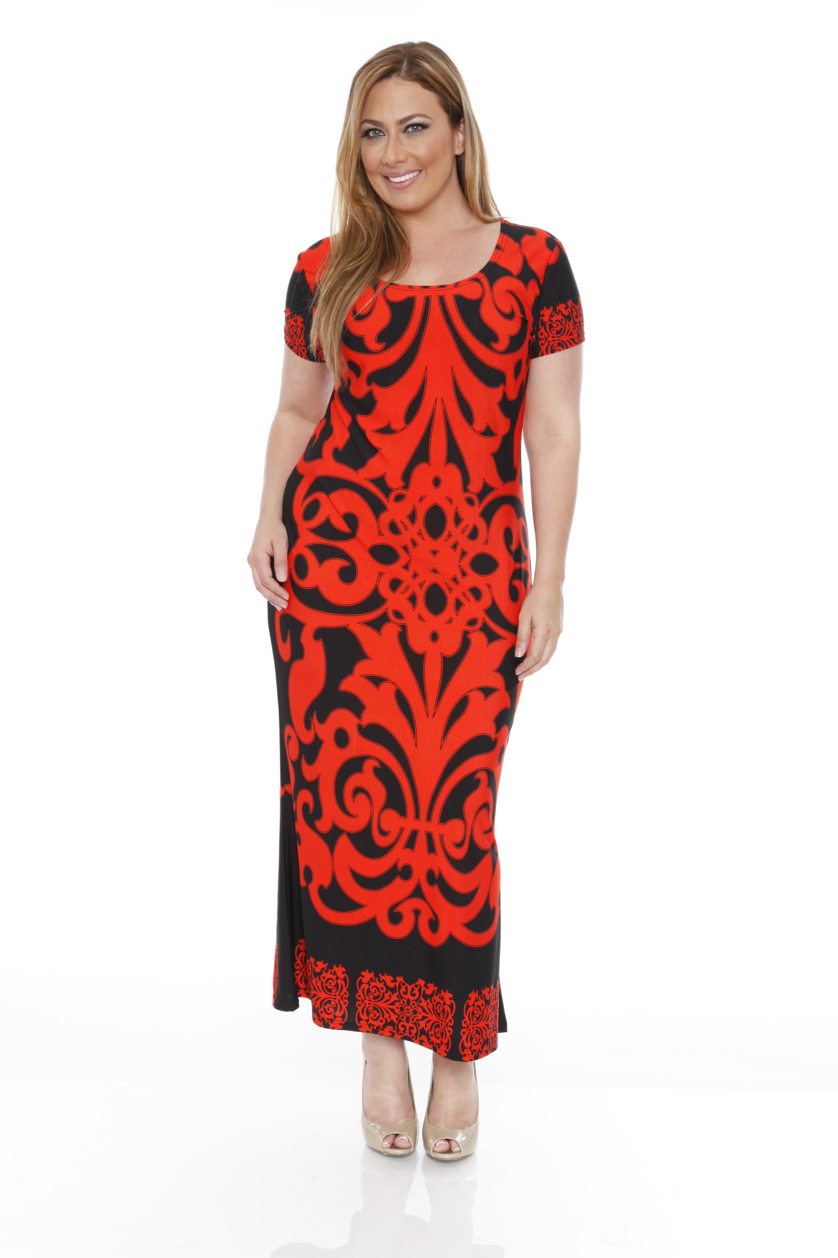 White Mark Women39s Plus Jasmine Maxi Dress Clothing
