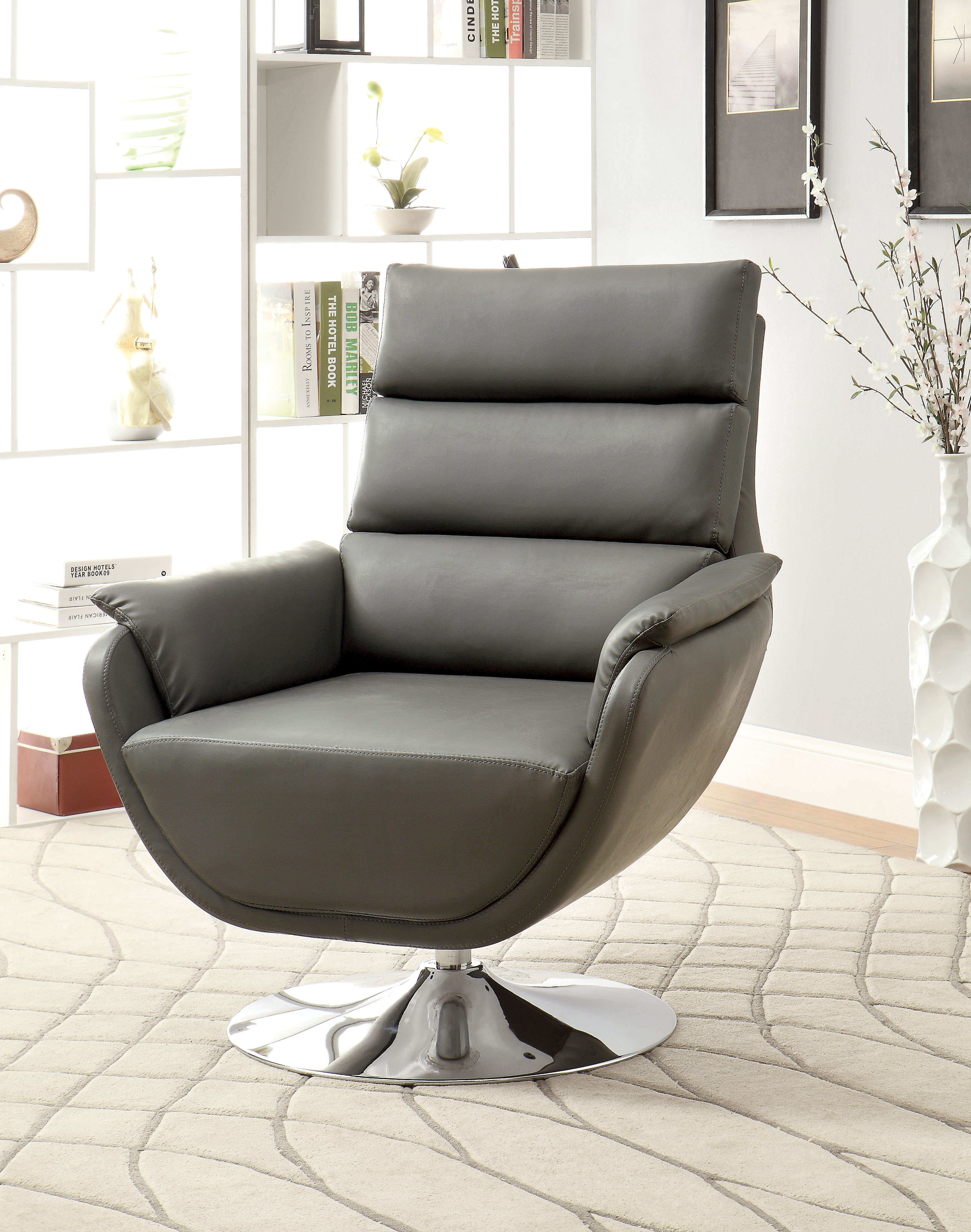 Swivel Accent Chair Furniture Of America Contemporary Nina Swivel Accent Chair
