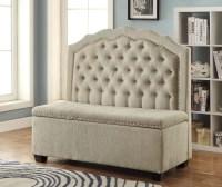 Furniture of America Gabrielle Romantic High Back Storage