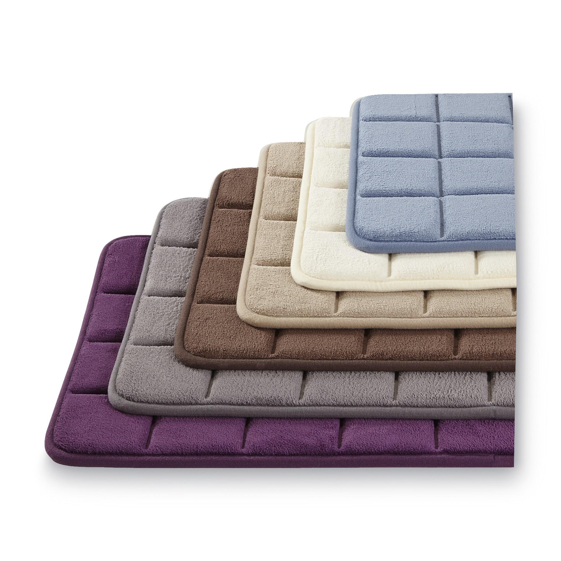 Sunham Memory Foam Bath Mat - Windowpane Home Bed & Towels Rugs