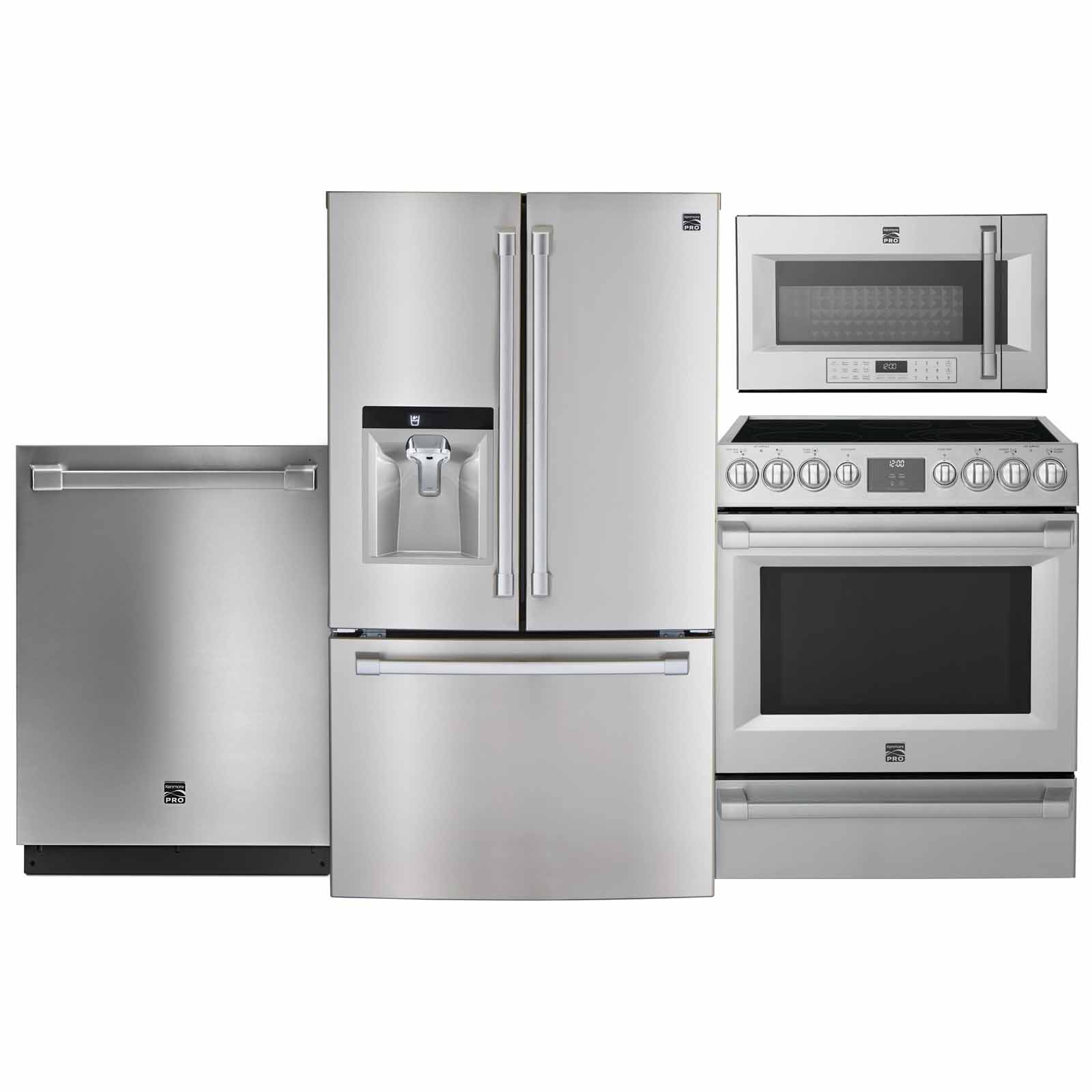 kitchen appliance suites las vegas hotel with shop packages sears at kenmore pro 4 piece stainless steel suite counter depth refrigerator