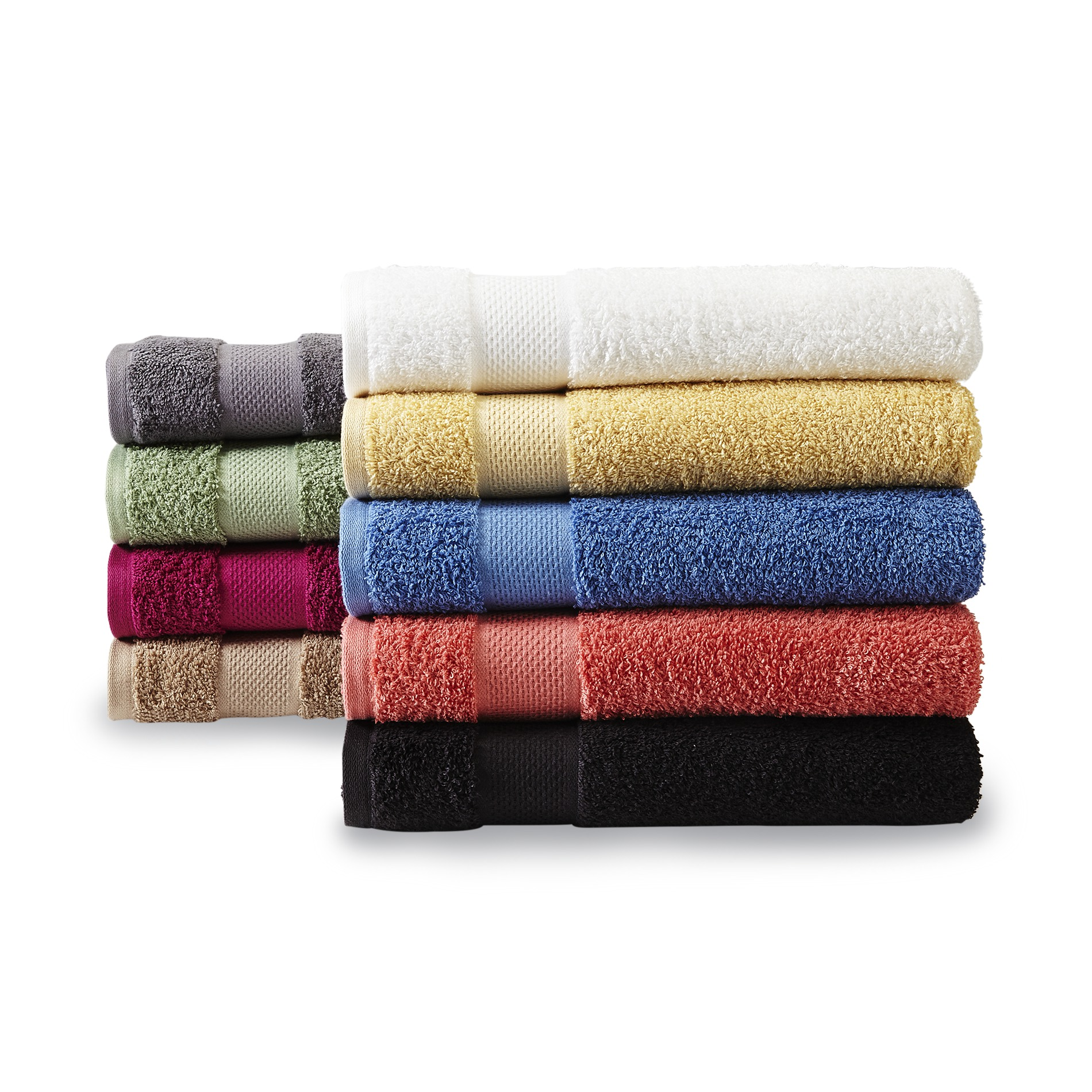 Colormate Ring Spun Cotton Bath Towels Hand Washcloths