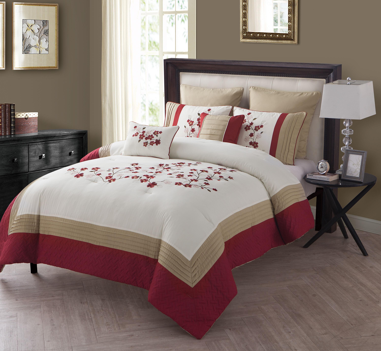 7pc. Comforter Set - Cherry Blossom