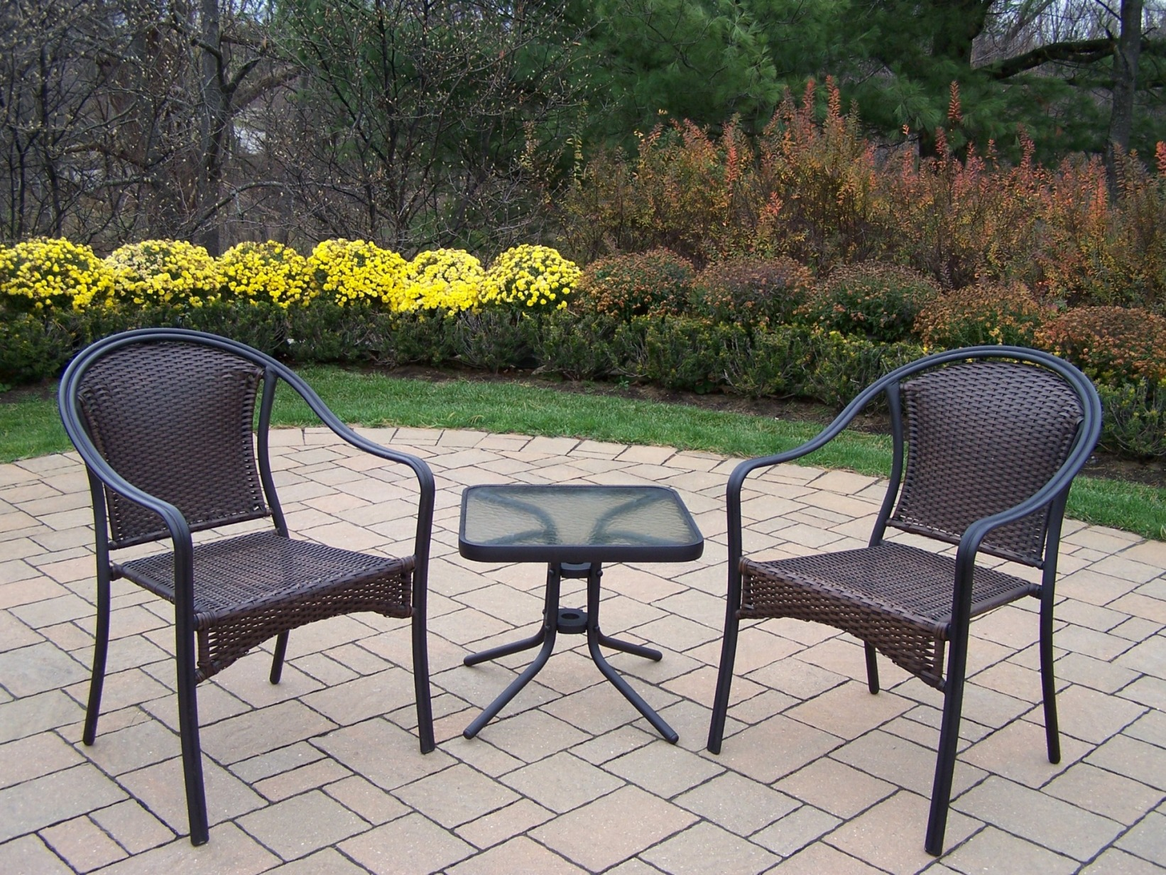 outdoor chairs kmart set of 4 dining resin wicker patio furniture
