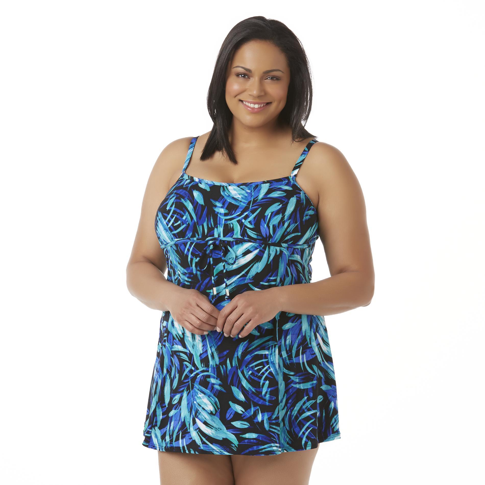 Tropical Escape Women' Swim Dress - Floral