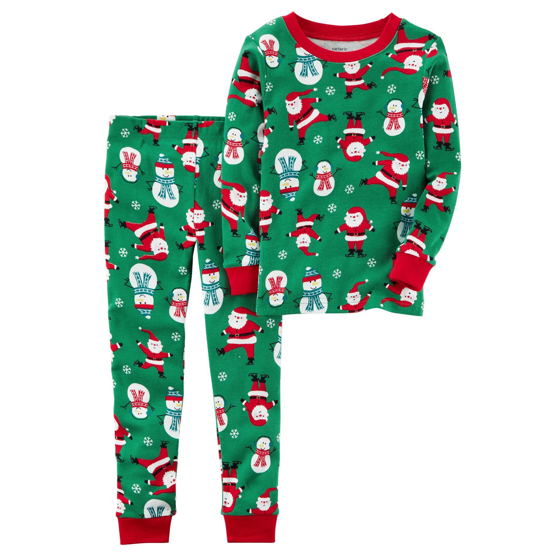 Carter' Toddler Boys Pajama Set - Santa & Snowman