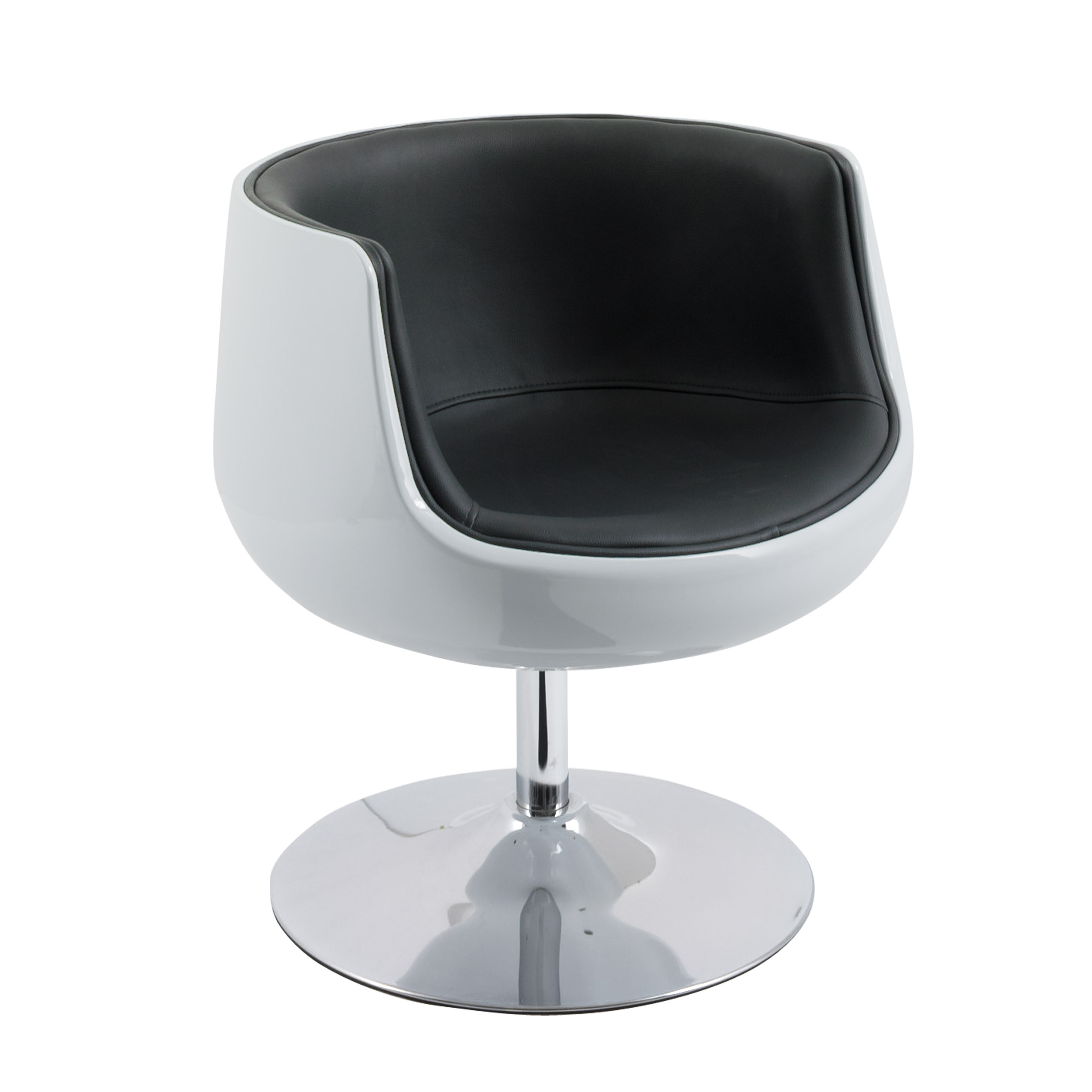 Modern Barrel Chair Corliving Modern Bonded Leather Barrel Chair