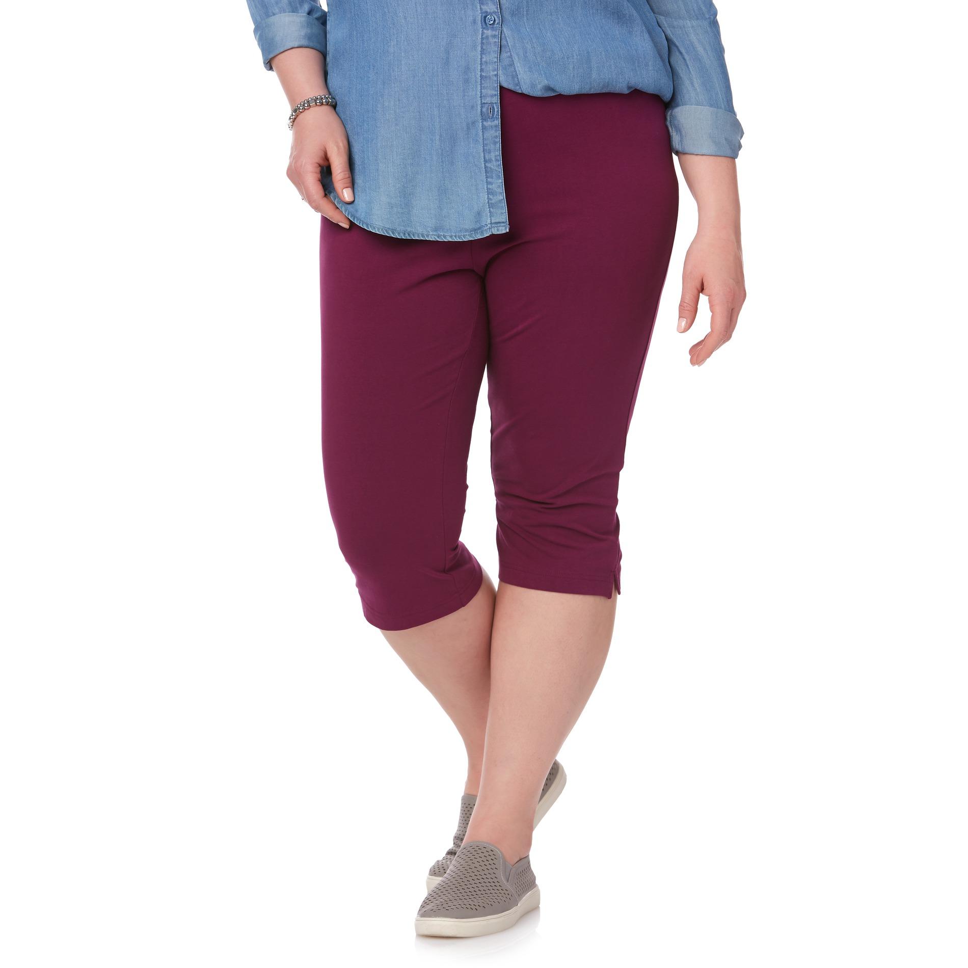 Basic Editions Women' Capri Leggings