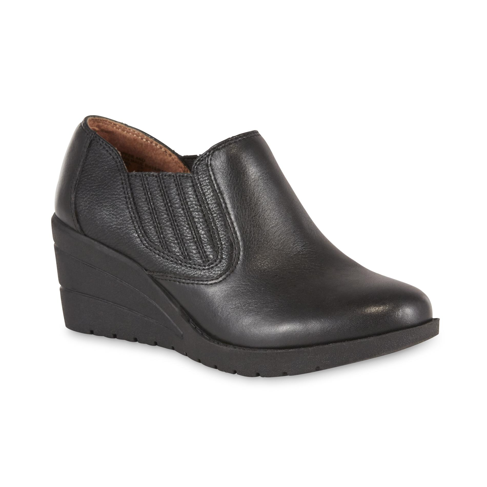 Thom Mcan Women' Deidre 2 Leather Wedge Loafer - Black