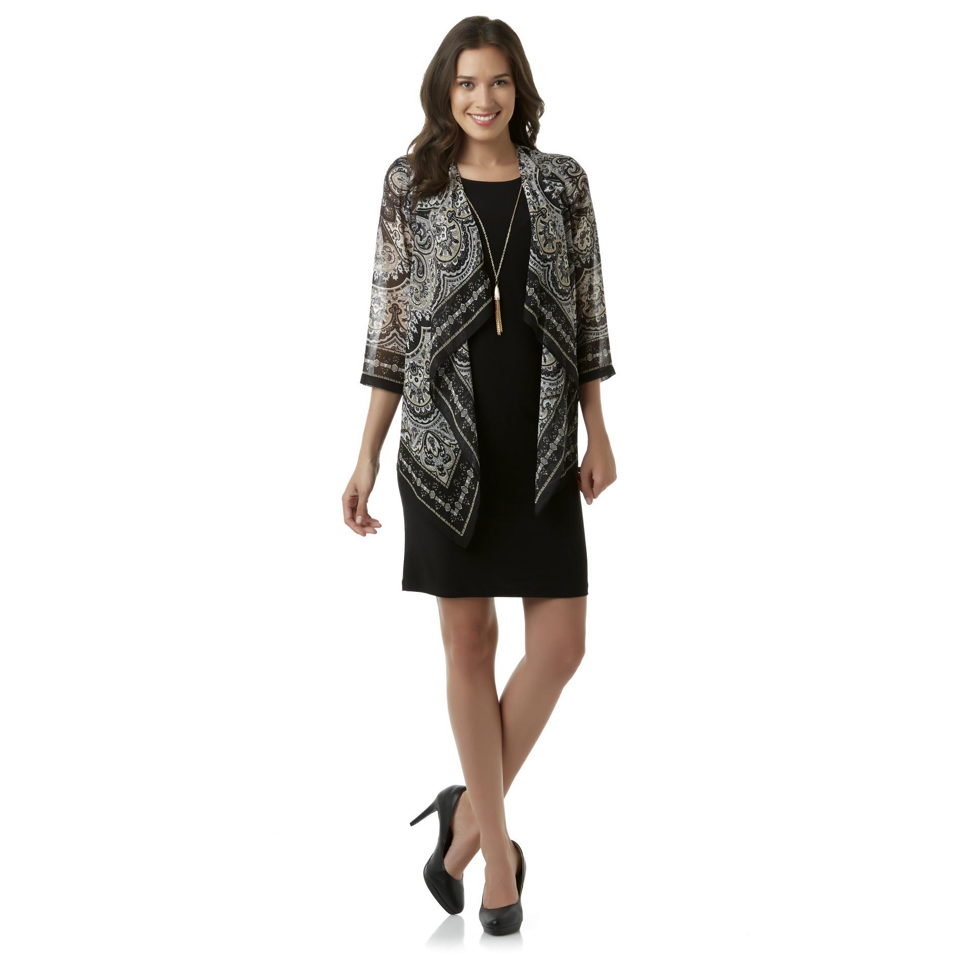Studio 1 Women39s Jacket Dress Paisley