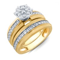 Wedding Bridal Ring Set