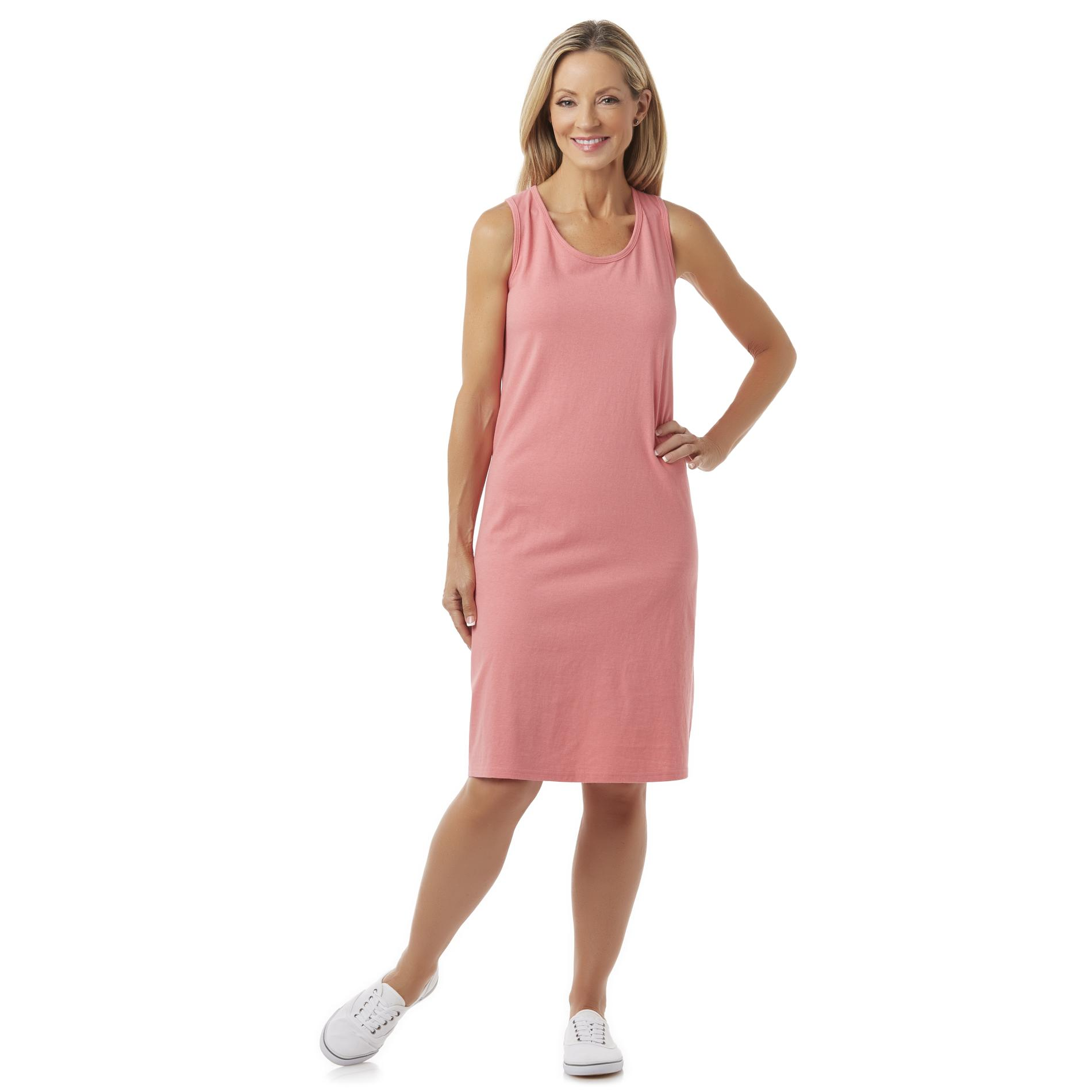Basic Editions Women39s Midi Tank Dress Kmart