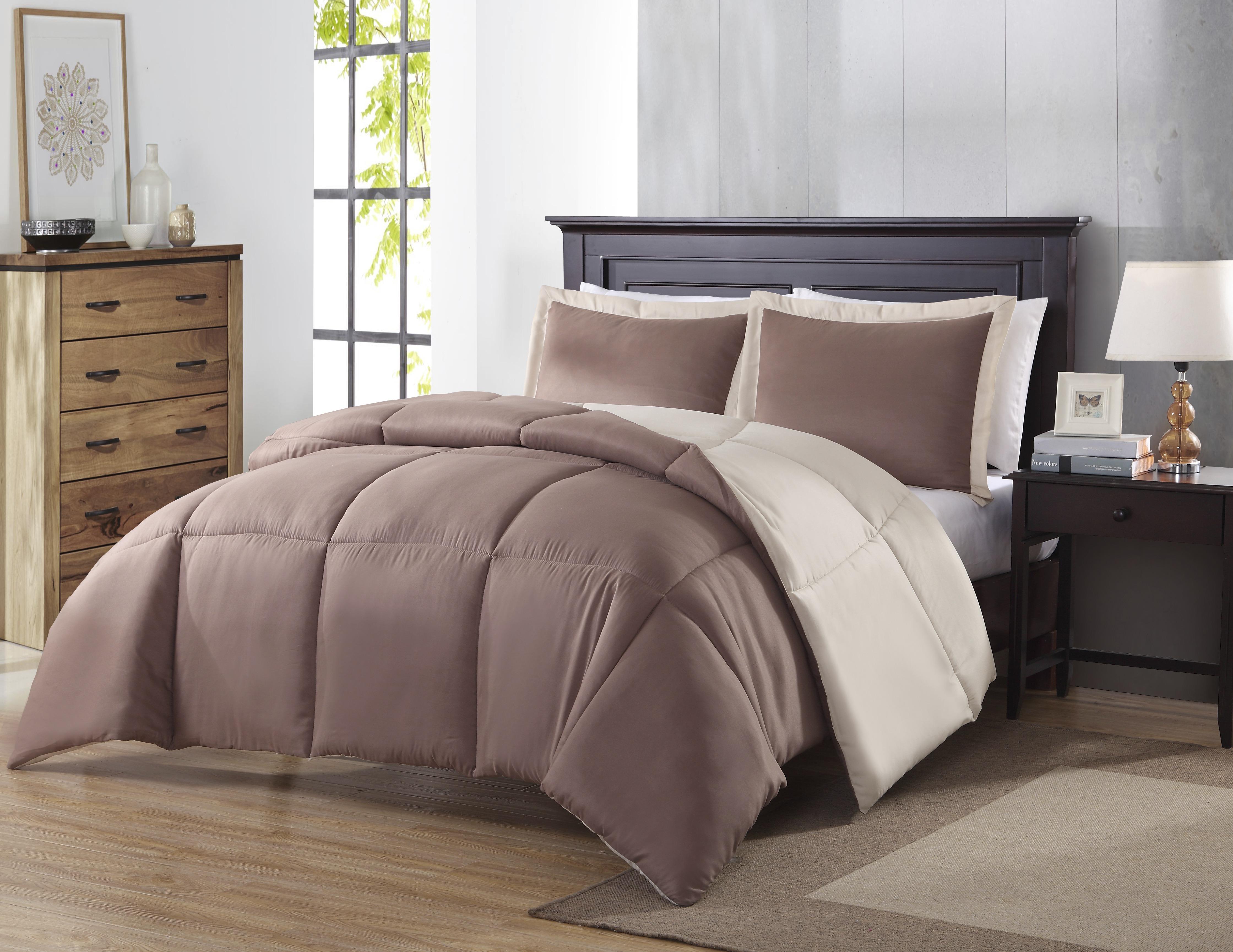 Colormate Reversible Comforter Set TaupeKhaki