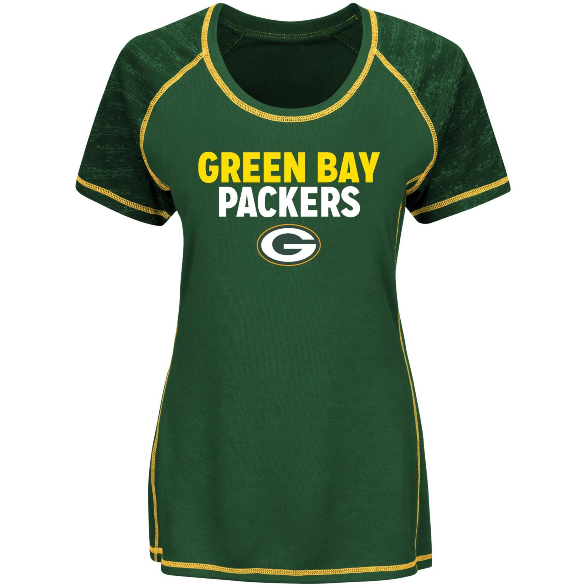 Nfl Women' Performance T-shirt - Green Bay Packers