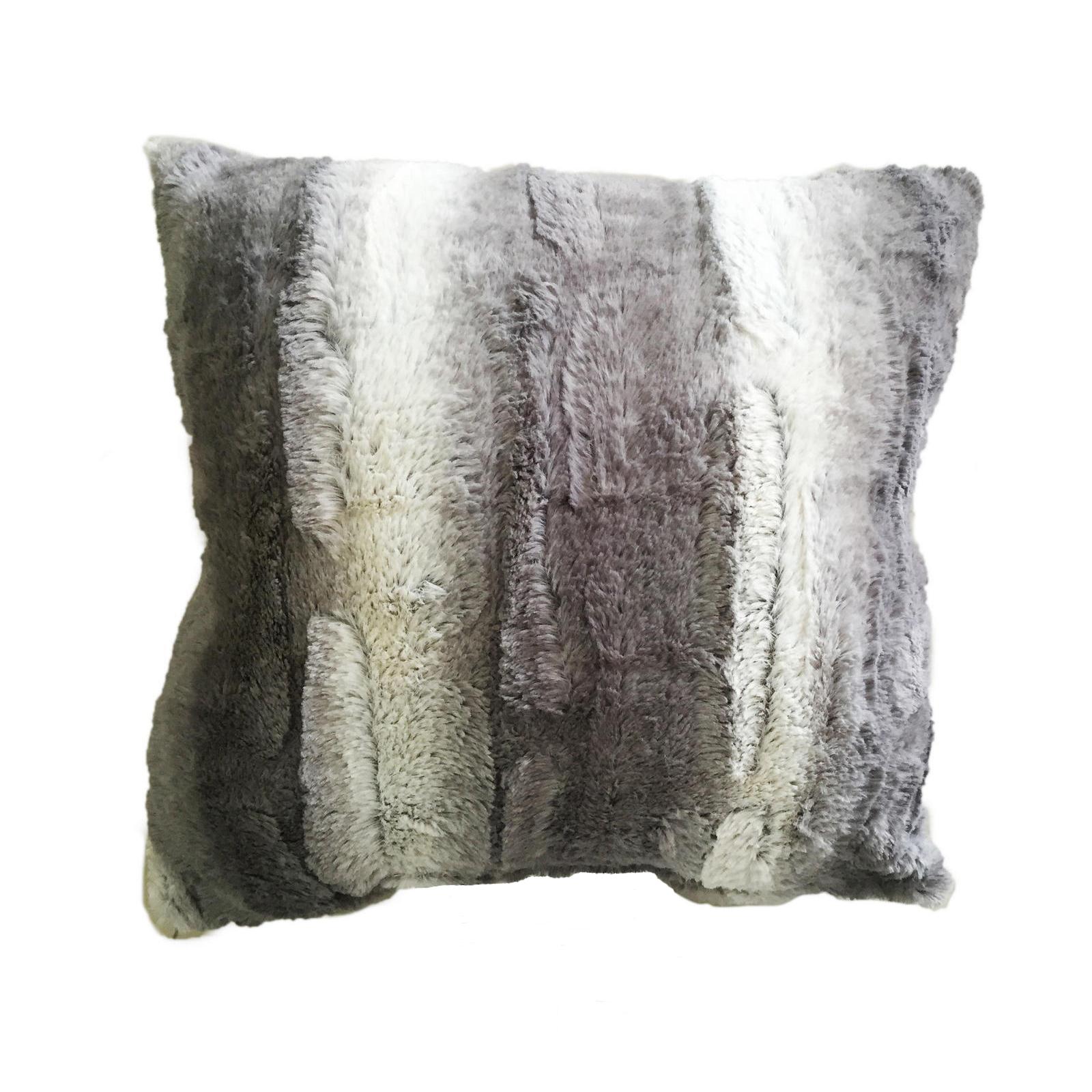 100 polyester sofa throws standard length cannon plush faux fur decorative throw pillow home
