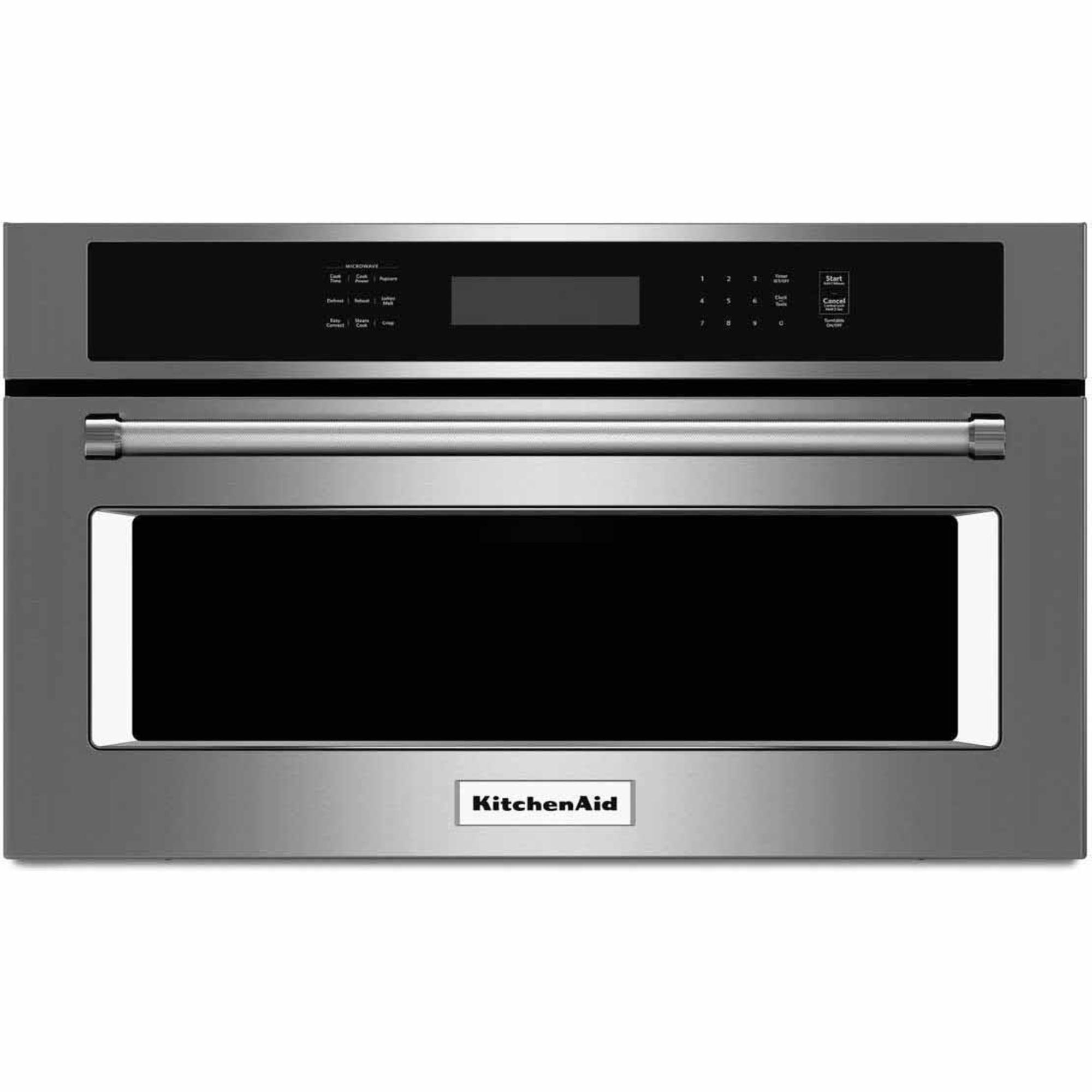kitchen aid microwaves cabinets long island kitchenaid kmbp100ess 30 quot built in microwave oven w