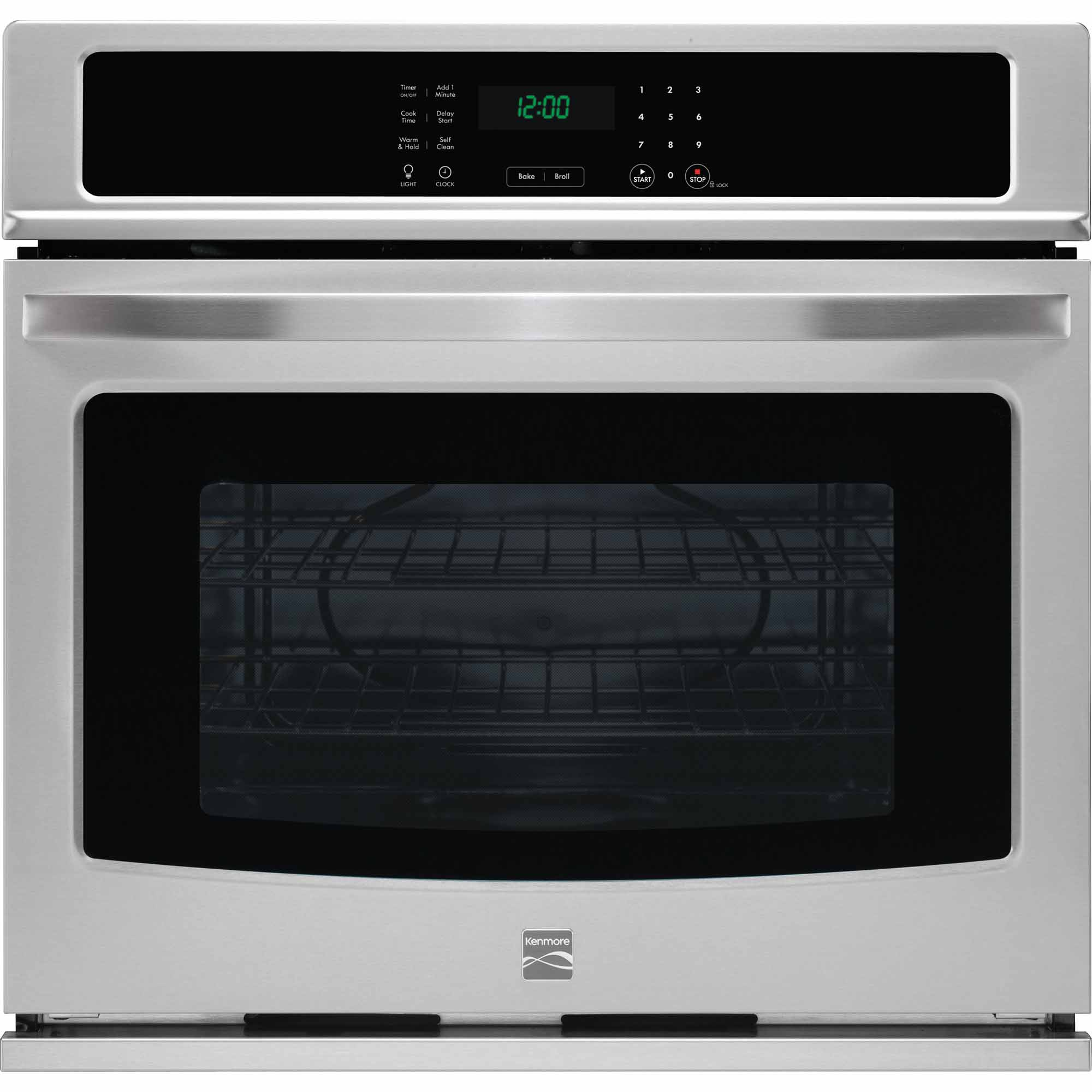 kenmore 49423 30 electric self clean single wall oven stainless steel