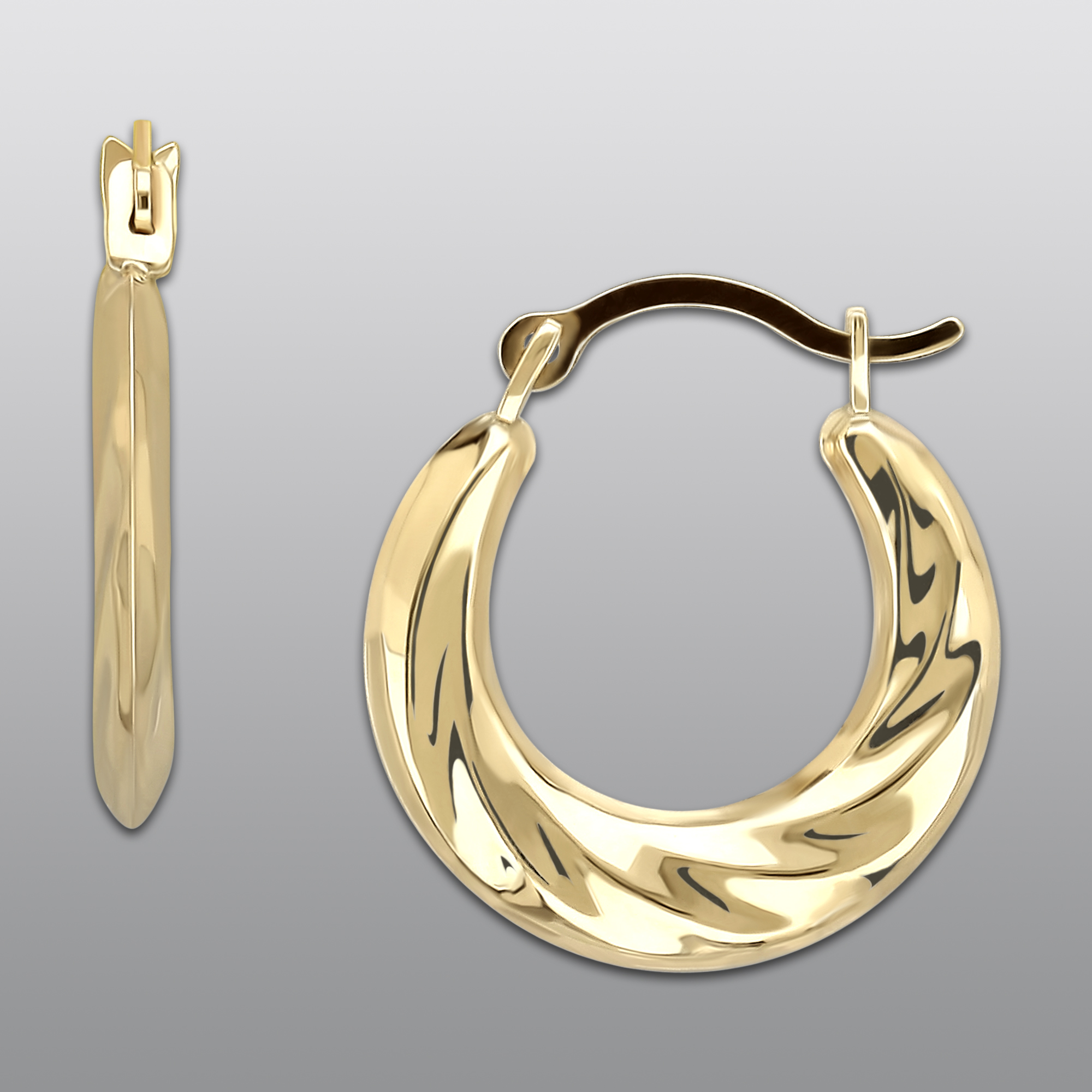 10k Yellow Gold Mini Hoop Earrings