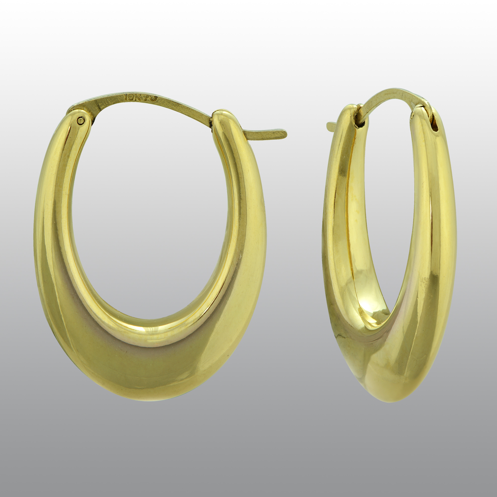 10k Gold Resin Thick Hoop Earrings