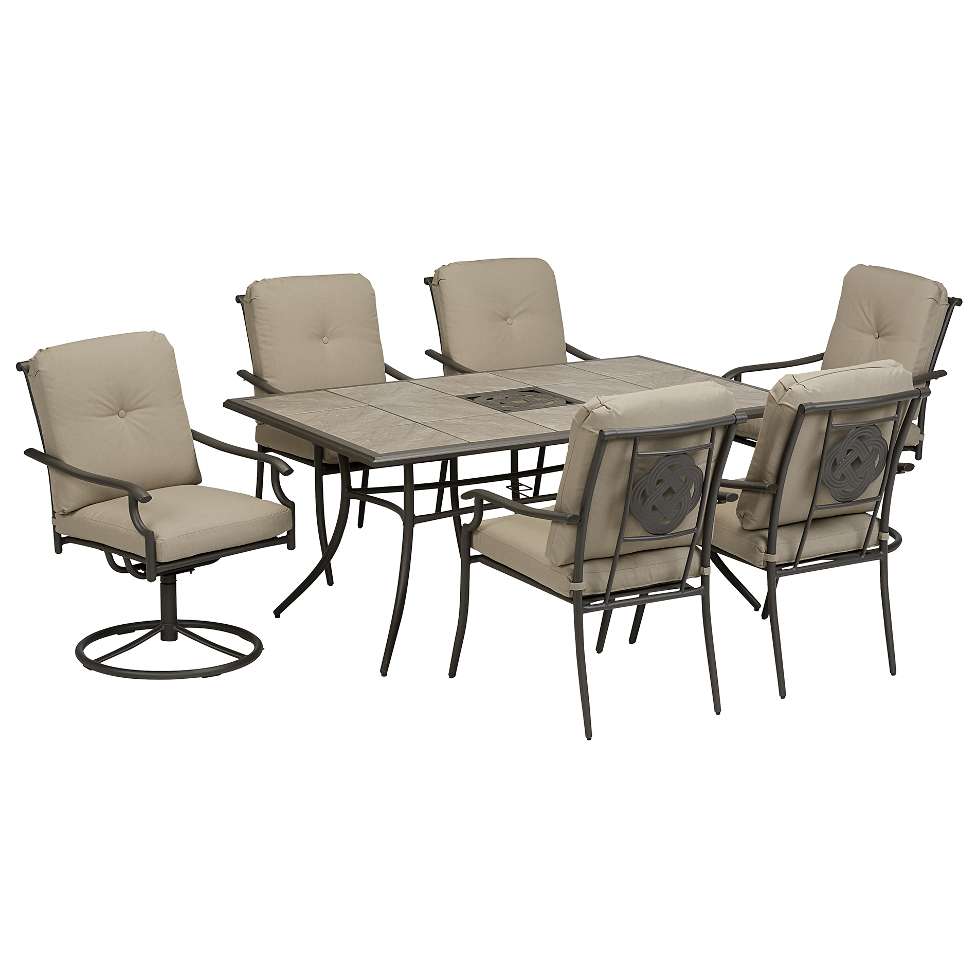 Garden Oasis Brookston 7 Piece Dining Set - Stone Sears