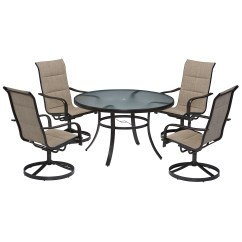 Garden Oasis Patio Chairs Folding Lounge Chair Outdoor Miranda 5 Piece Dining Set Living