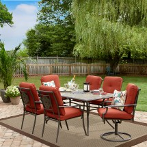 Outdoor Garden Oasis Harrison 7piece Sling High Dining Set