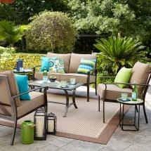 Harrison Garden Oasis Cushion 4 Piece Seating Set