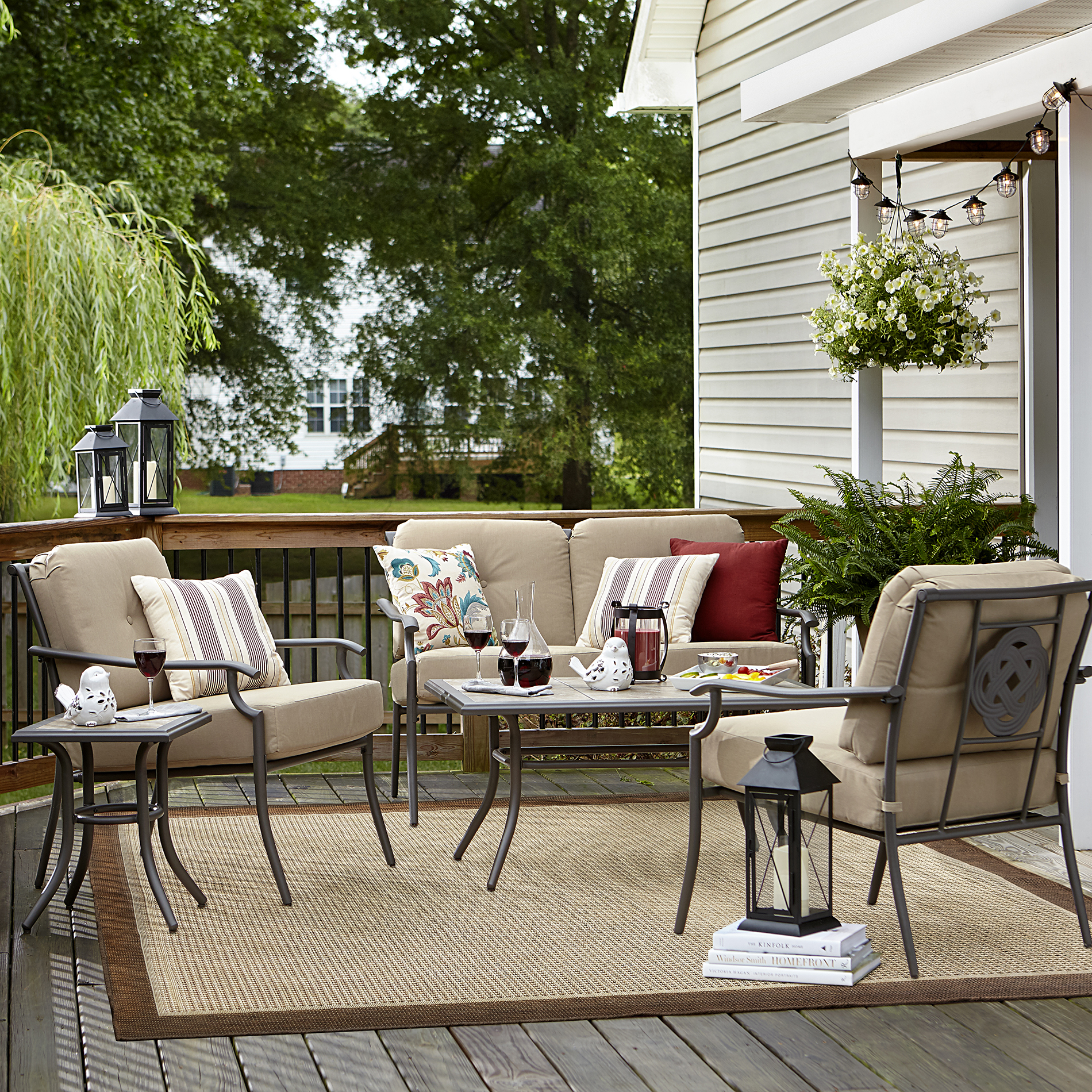 Garden Oasis Brookston 4 Piece Seating Set - Stone