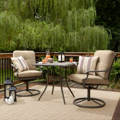 Bistro Table And Chairs Kmart Memory Foam Chair Garden Oasis Brookston 3 Piece Set Stone