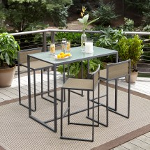 Garden Oasis Wallace 5 Piece Sling High Dining Set