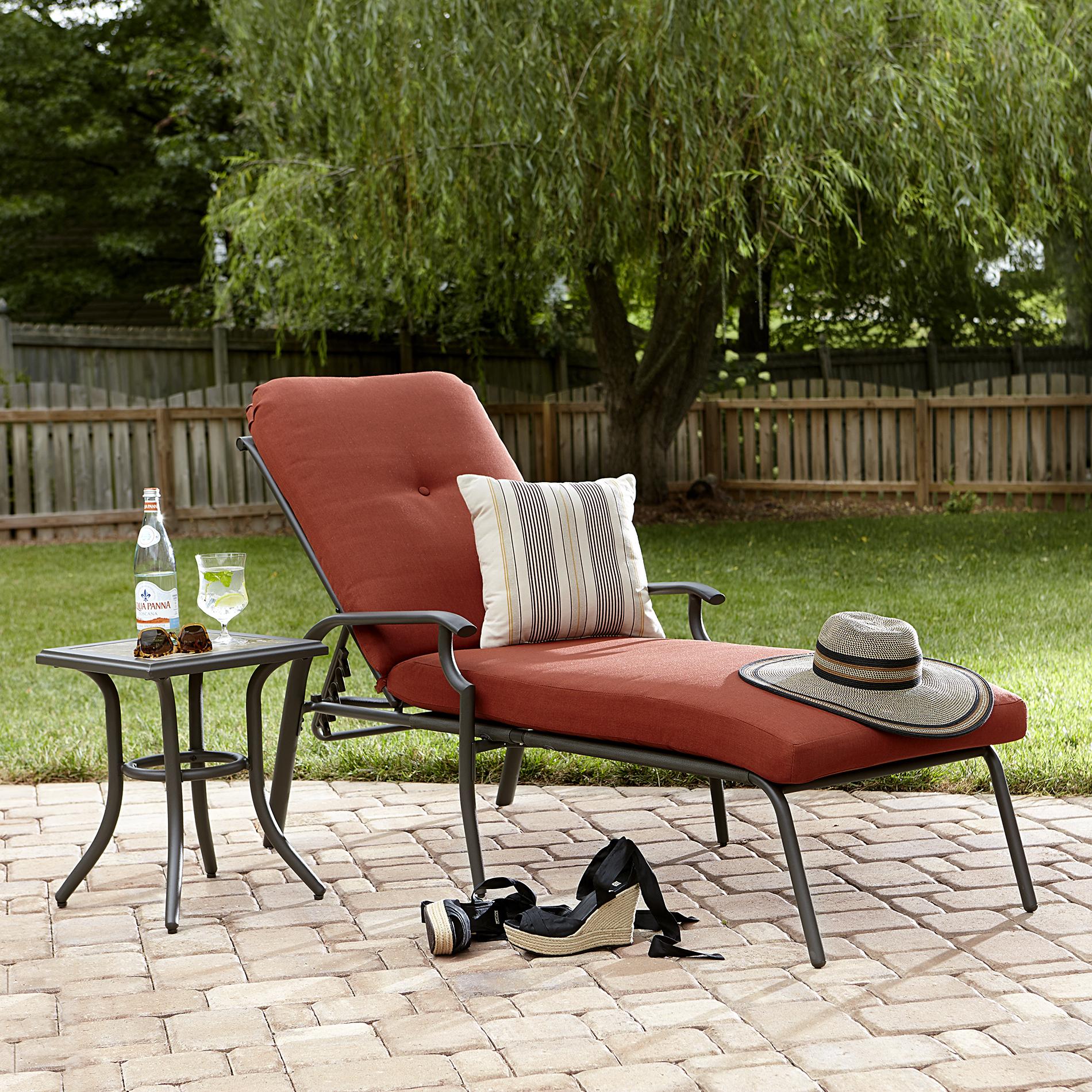 sun lounge chairs kmart yellow fabric desk chair garden oasis brookston chaise terracotta