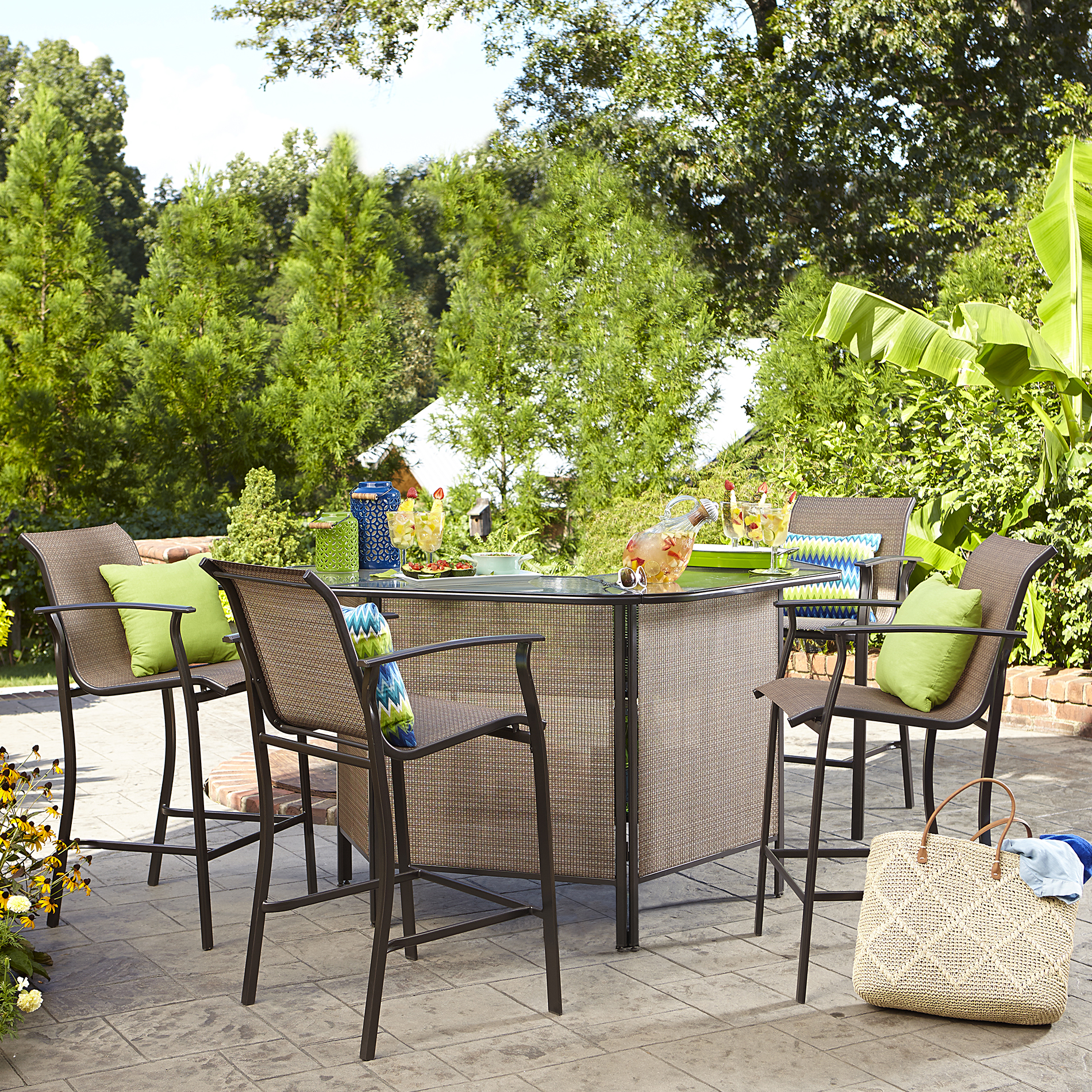 Garden Oasis Harrison 5 Piece Bar Set Limited Availability