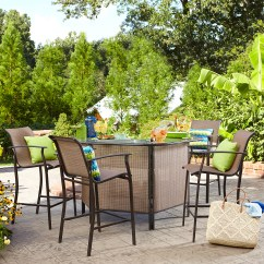 Garden Oasis Patio Chairs Deck Chair Cushions Furniture 4 Person Kmart Harrison 5 Pc Outdoor Bar Set Limited Availability