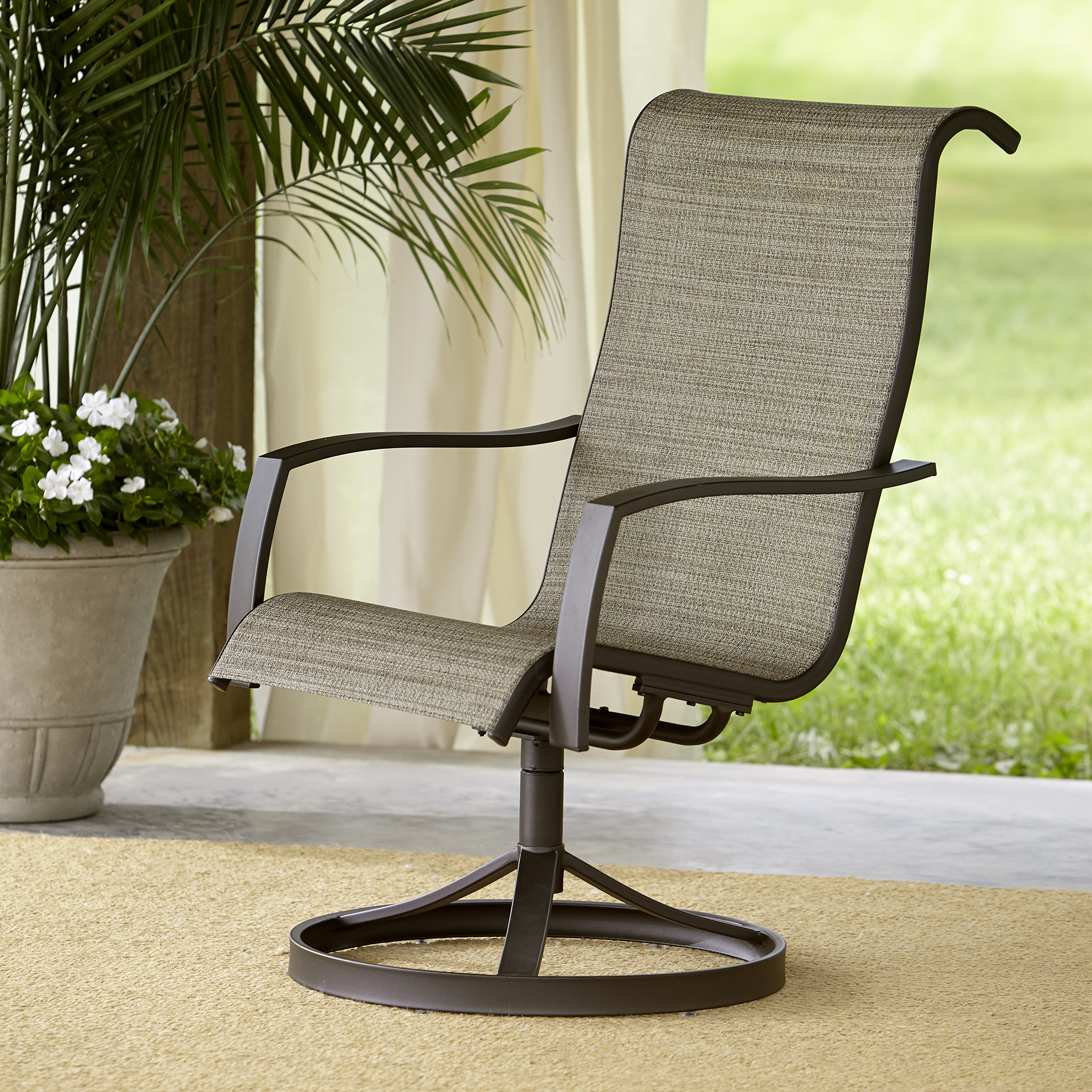 re sling patio chairs toddler folding chair with canopy garden oasis providence 1pk swivel limited